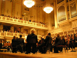 We went to a concert of Beethoven's 9th at the Berlin Konzerthaus. Fabulous building rebuilt by the soviets.