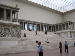 The Pergamon alter in the aptly named Pergamon Museum. Whilst other countries contented themselves with taking                        sculptures and paintings the Germans souvenired entire buildings.