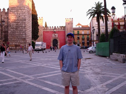 Andrew outside the amazing 14 century Alcazar, or royal fort.
