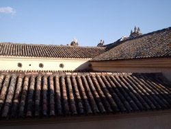 Looking out our hotel room over the rooftops of Seville